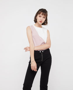 Uqon Colour Block Top Tops OSMOSE-STORES XS White