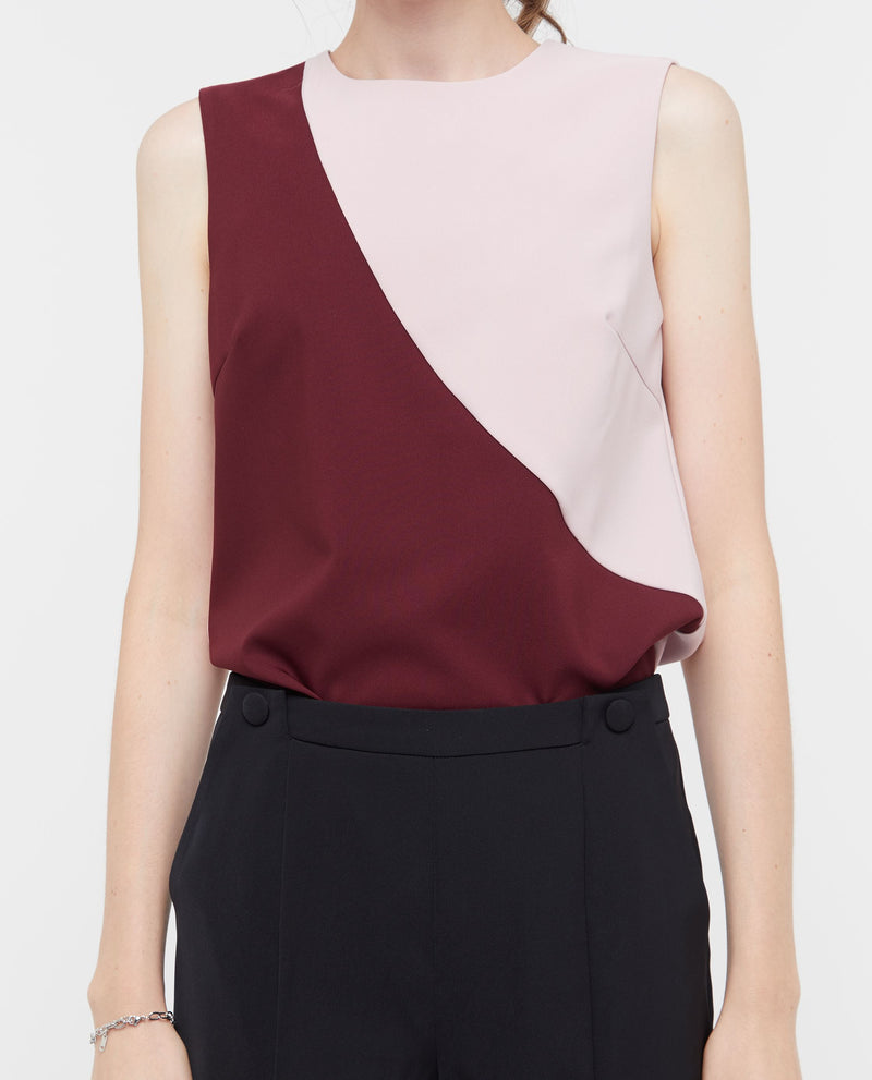 Uqon Colour Block Top Tops OSMOSE-STORES