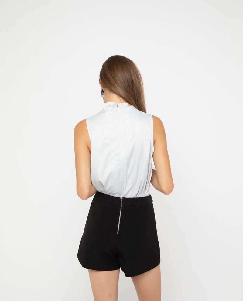 Ura Pleated Top Tops OSMOSE-STORES