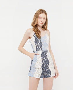 Uzon Lace Panel Romper One-piece suits OSMOSE-STORES