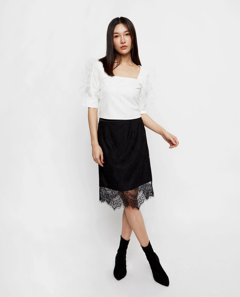 Vienna Lace Skirt Midi Skirt OSMOSE-STORES