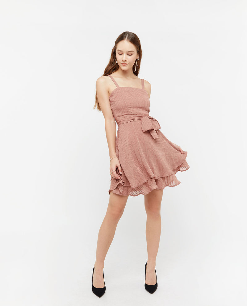 Vikki Layered Flutter Dress Dresses OSMOSE-STORES