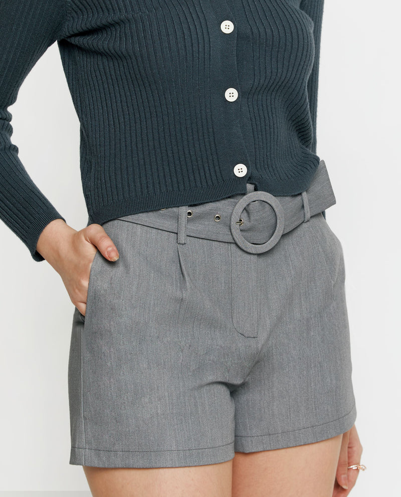Vince Belted Twill Shorts Shorts OSMOSE-STORES