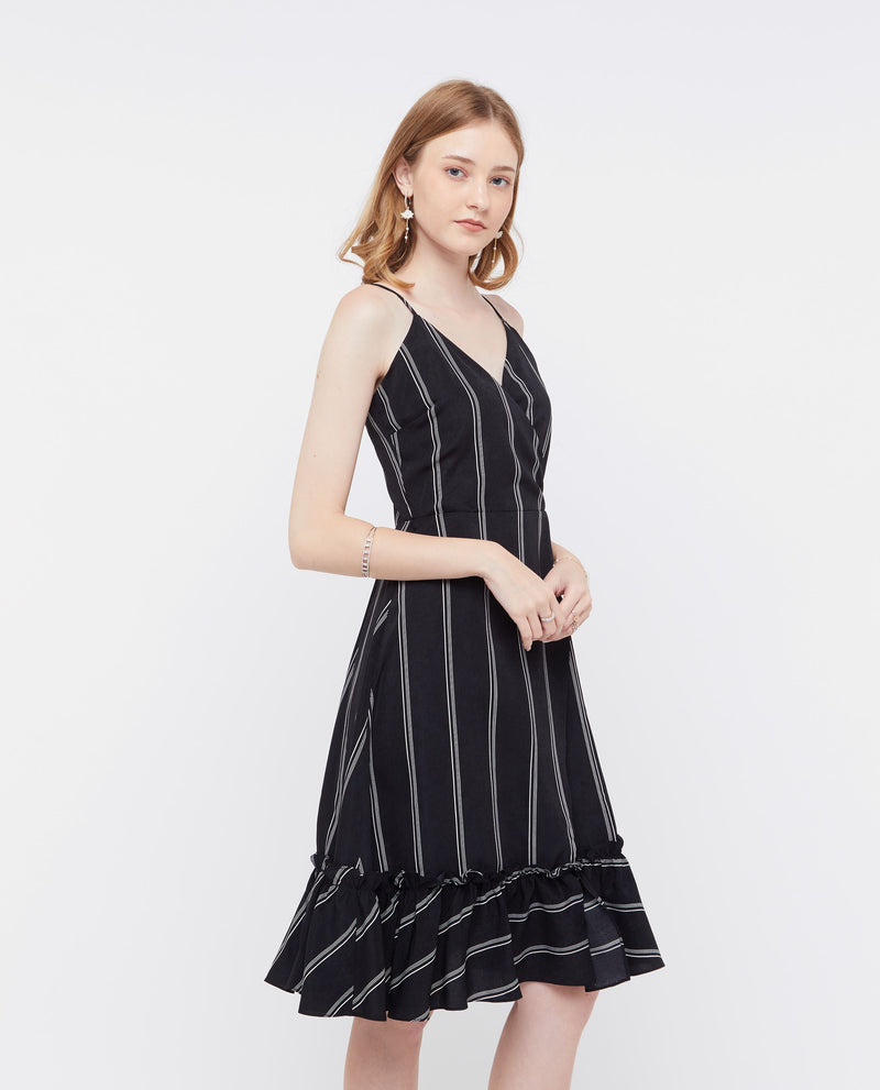 Violina Stripe Dress Dresses OSMOSE-STORES
