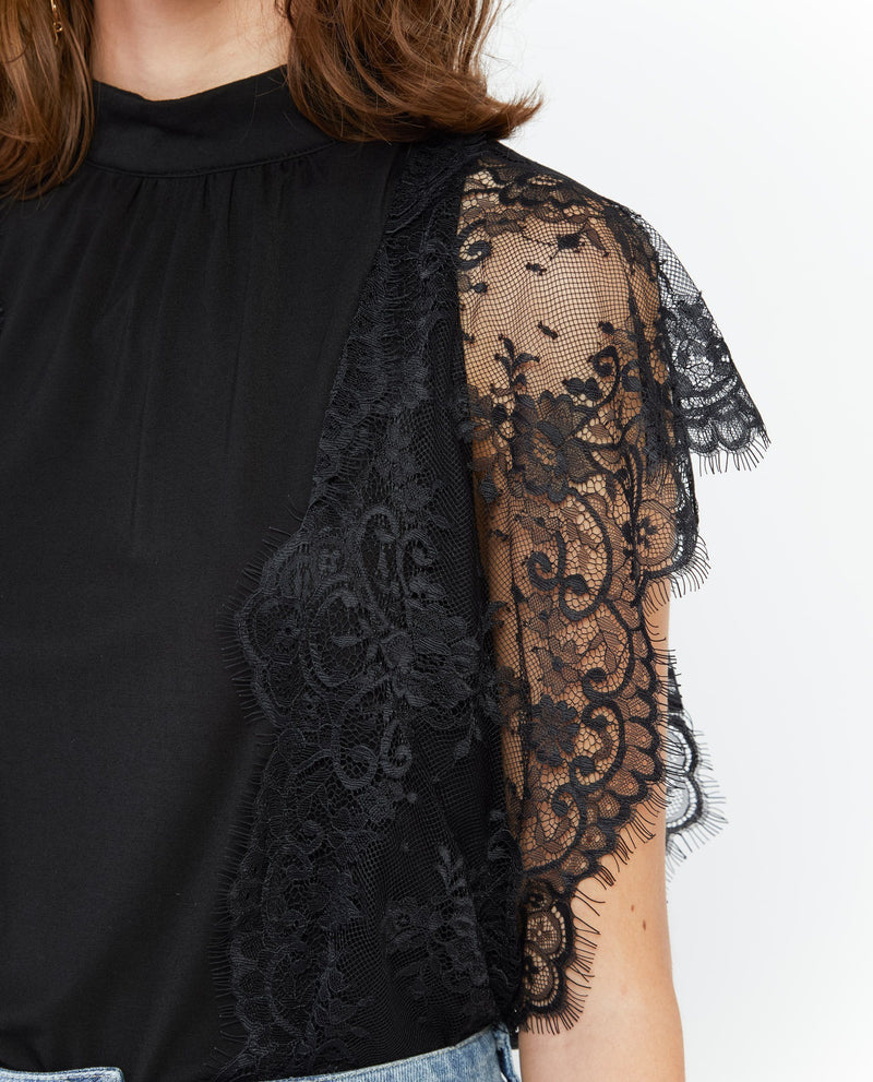 Vyona Lace Jersey Top General OSMOSE-STORES