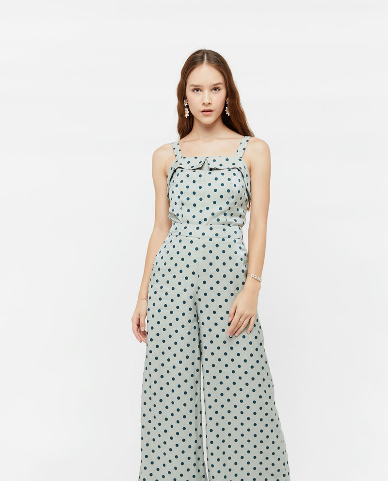 Weslyn Polka Dot Top Tops OSMOSE-STORES XS Green