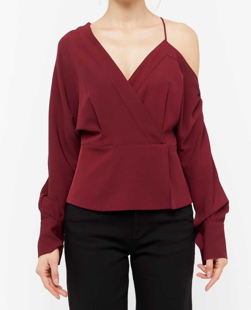 Wuno Sleeve Cut Top Tops OSMOSE-STORES