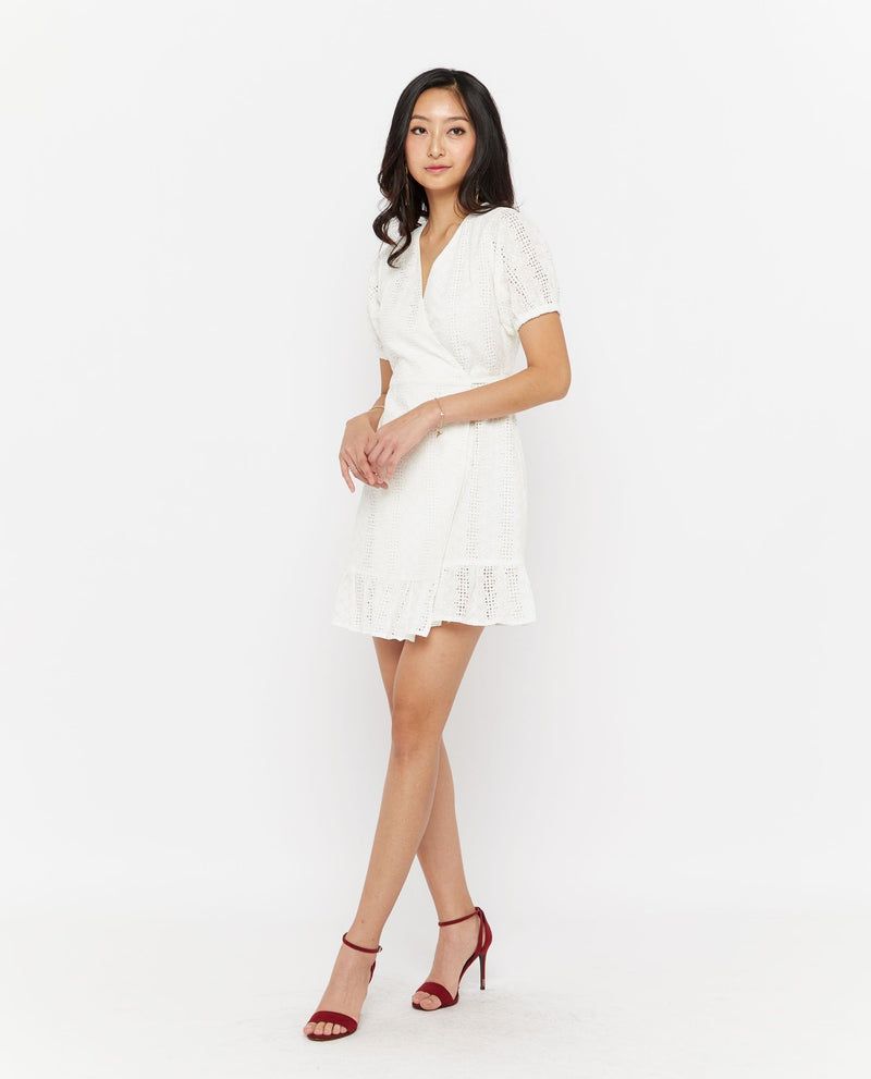 Xadon Lace Wrap Dress Dresses OSMOSE-STORES