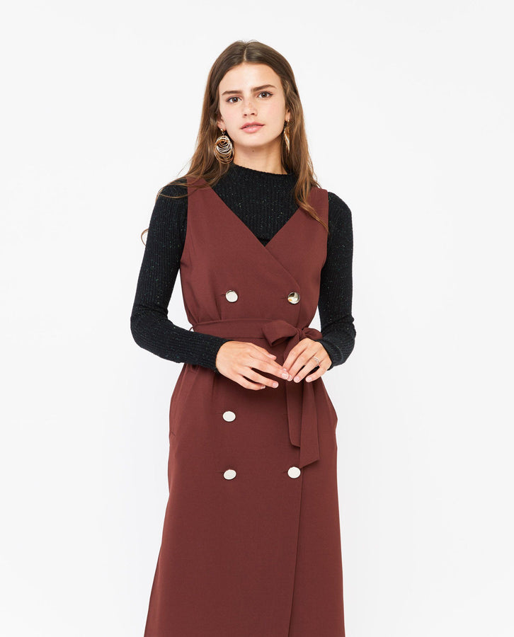 Xelan Overlap Trench Dress