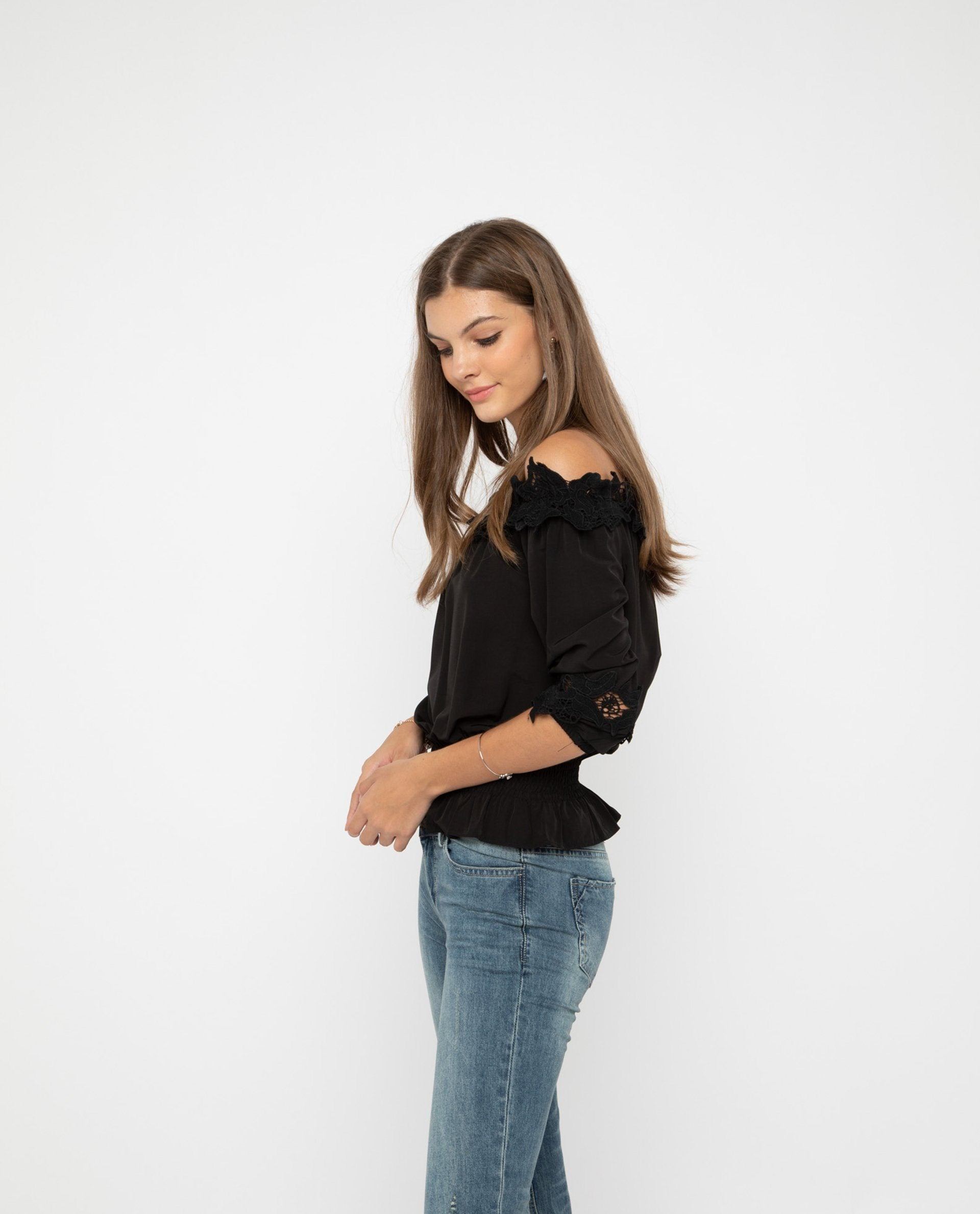 Xenin Lace Off Shoulder