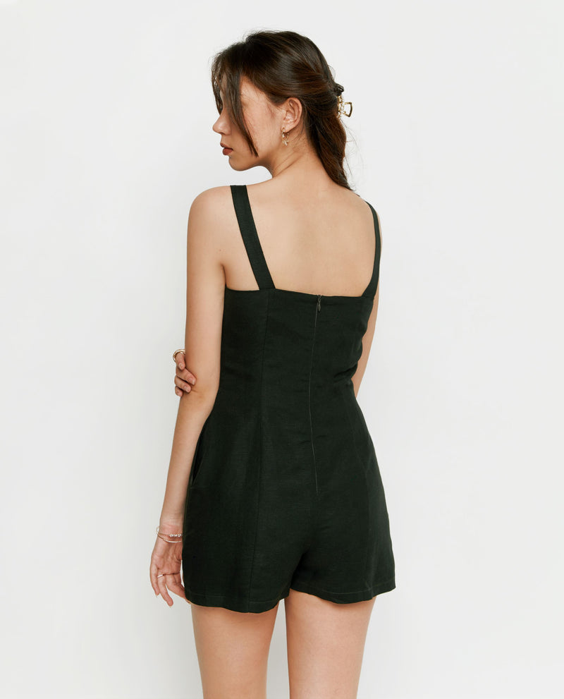 Yara Buttoned Romper Romper OSMOSE-STORES
