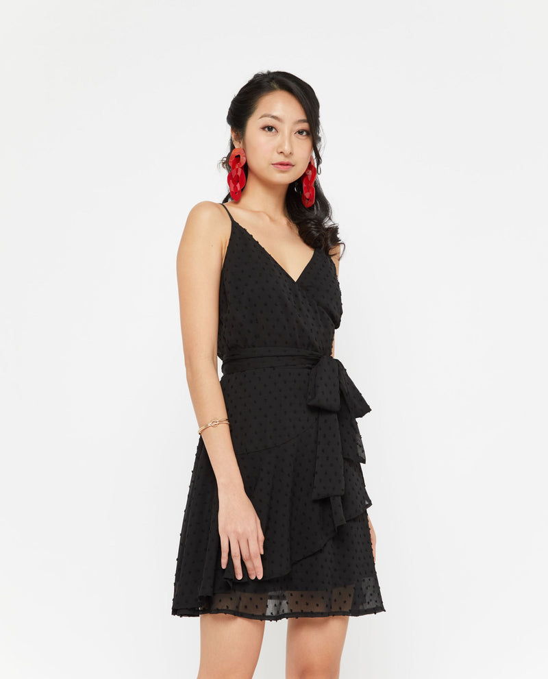 Yethan Mesh Polka Dot Dress Dresses OSMOSE-STORES