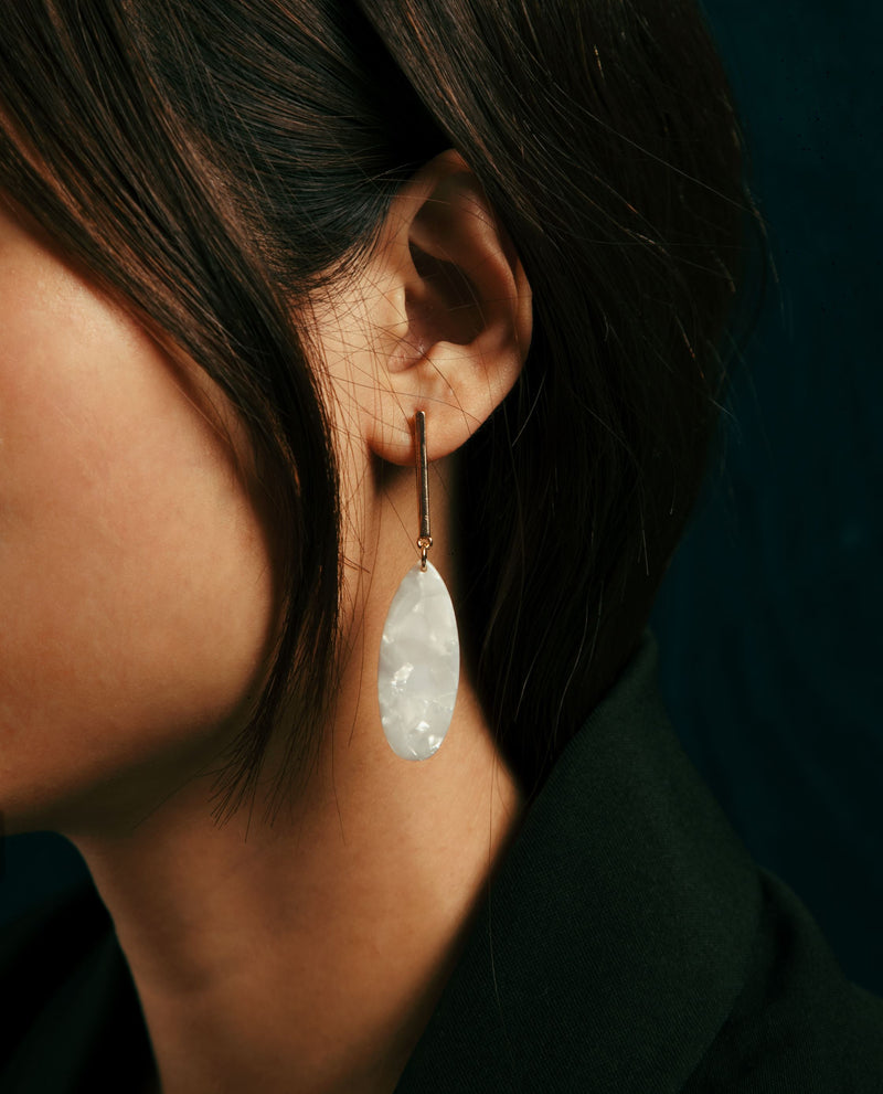 Zinko Resin Drop Earrings Earrings OSMOSE-STORES