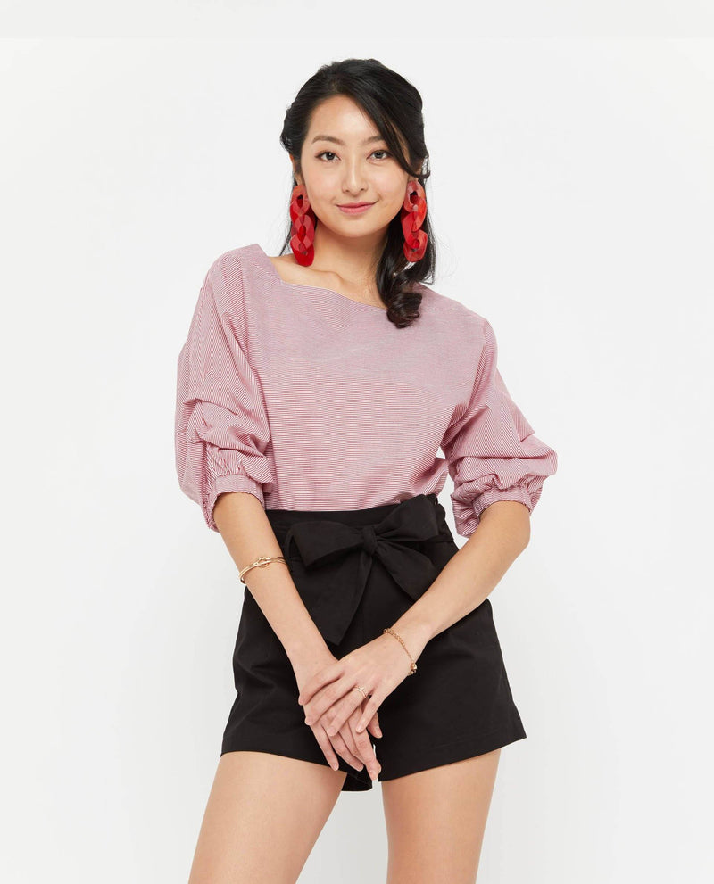Zoia Puffy Sleeve Top Tops OSMOSE-STORES
