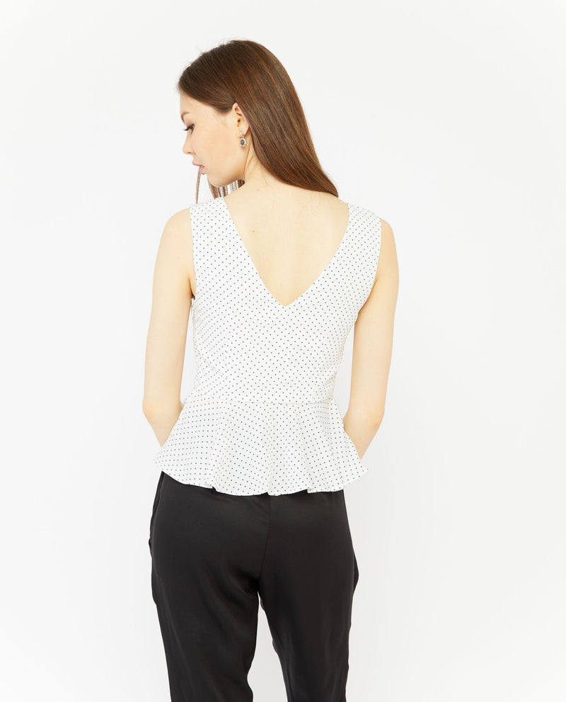 Zuther Polka Dot Top Tops OSMOSE-STORES