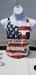 Delco Ladies American Flag - Tank  (Choose Your Design)