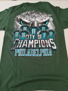 Philadelphia City of Champions - Green Tee