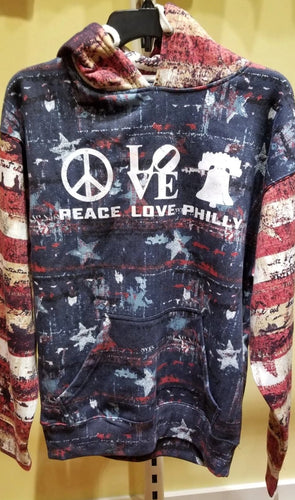 Peace Love Philly - Patriotic Pullover Hoodie