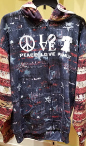 Peace Love Philly - Patriotic Zip Hoodie
