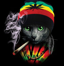 Load image into Gallery viewer, Rasta Cat Tee