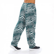 Load image into Gallery viewer, Philadelphia Eagles Zebra Pants - Zubaz- Officially Licensed