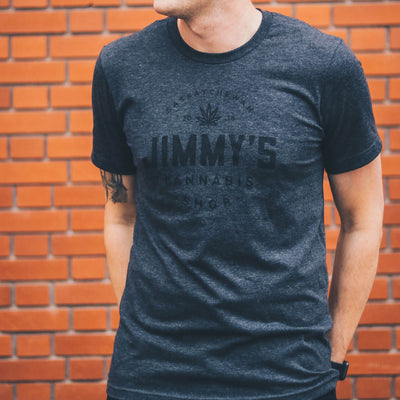 Jimmy's T-Shirt - Midnight Smoke Front View