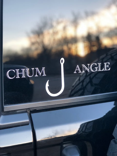 "4"" x 2"" Chum Angle Transfer Sticker"