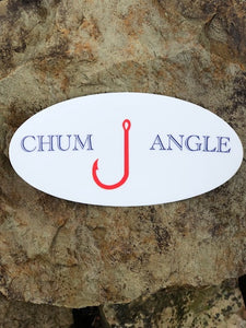 Chum Angle Oval Sticker