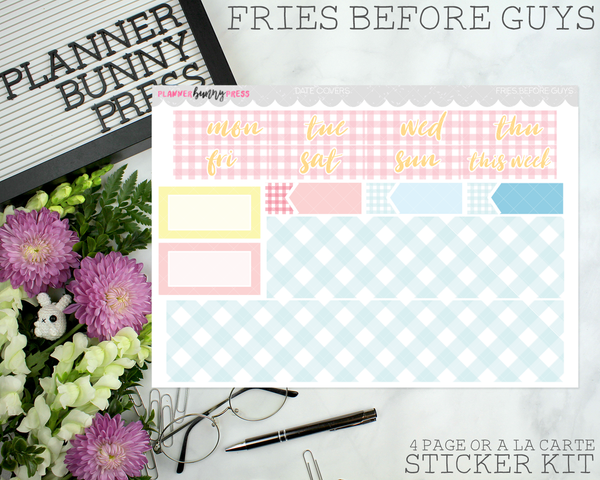 Fries Before Guys | Vertical Sticker Kit