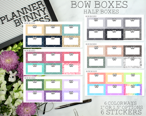 Bow Boxes - Half Boxes