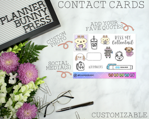 Contact Cards | CUSTOM ITEM