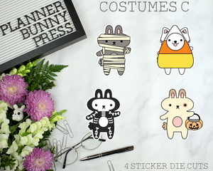Costumes C Sticker Die Cuts