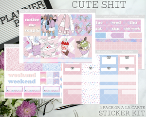Cute Shit | Vertical Sticker Kit