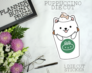 Puppuccino Sticker Die Cut