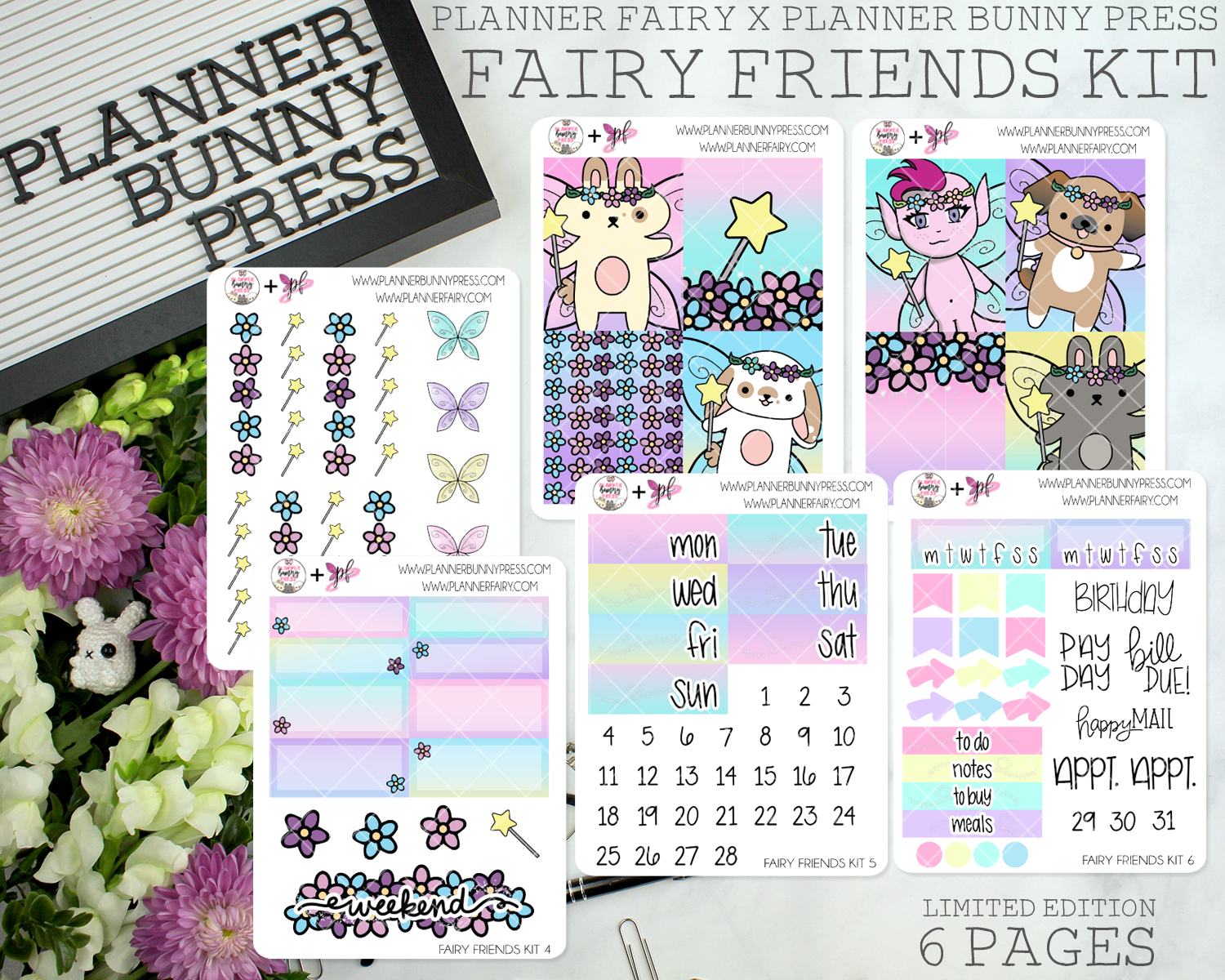 Fairy Friends Mini Kit | PLANNER FAIRY X PLANNER BUNNY PRESS COLLAB