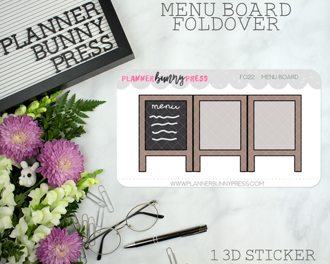 Menu Board Foldover