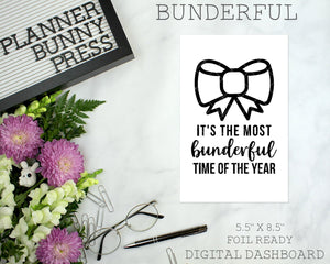 Bunderful | DIGITAL DOWNLOAD | Printable | Bunny Rabbit Dog Puppy Winter Christmas Dashboard