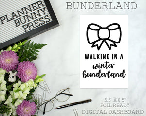 Bunderland | DIGITAL DOWNLOAD | Printable | Bunny Rabbit Dog Puppy Winter Christmas Dashboard
