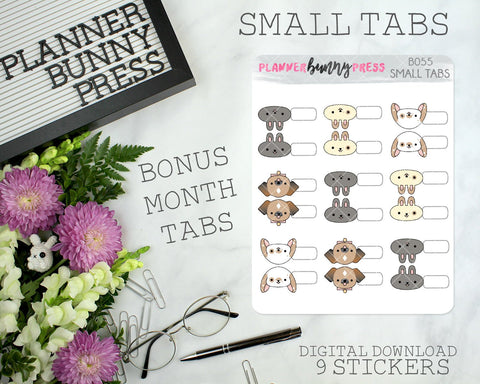 DIGITAL Small Tabs | Character Sticker