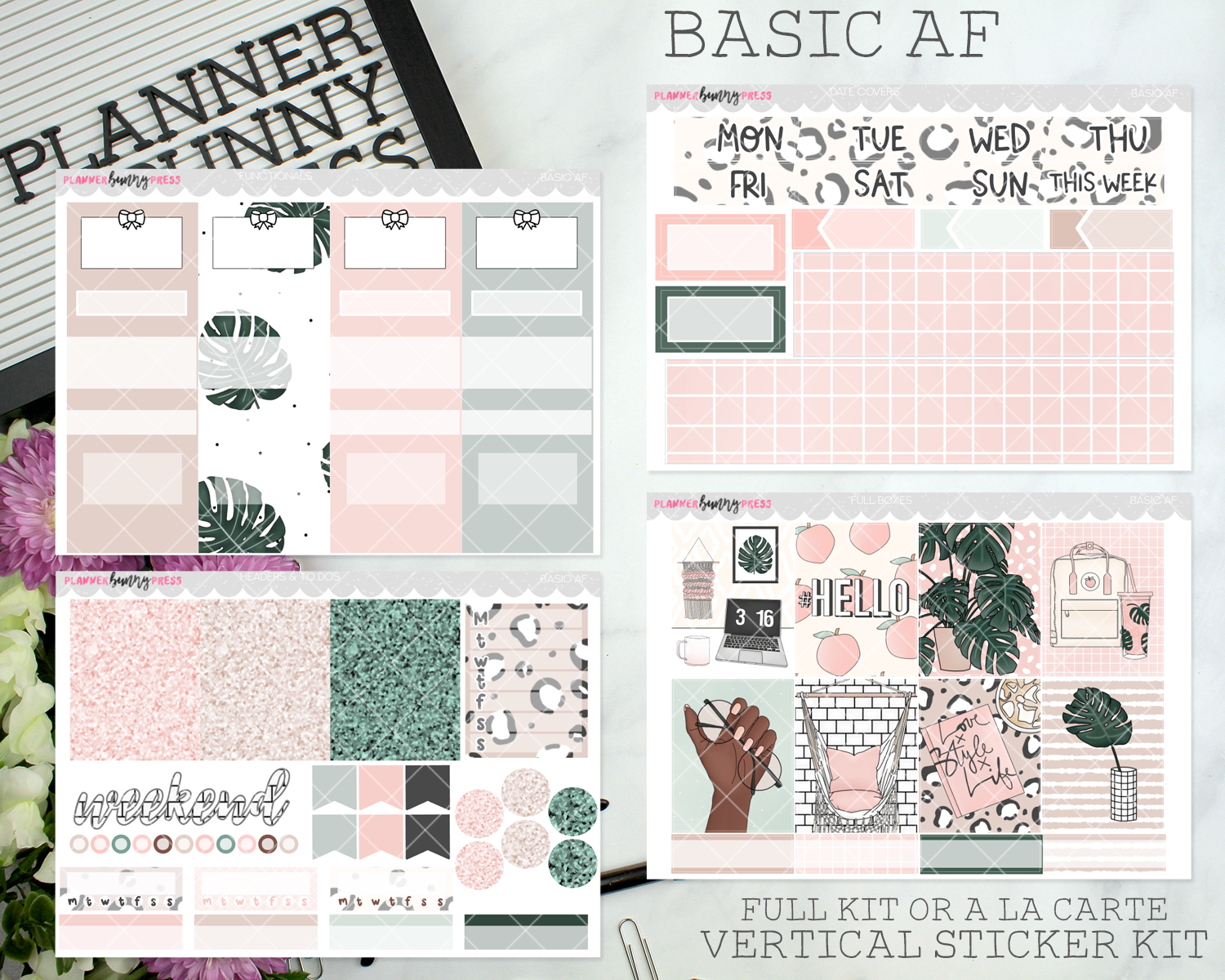 Basic AF | Vertical Sticker Kit