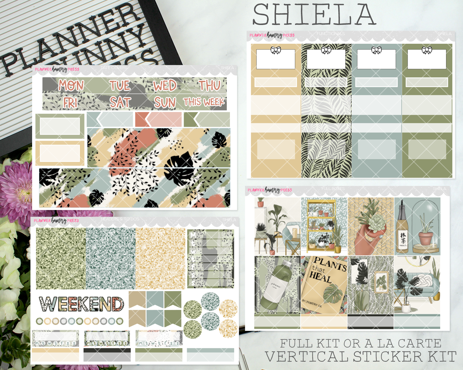 Shiela | Vertical Sticker Kit
