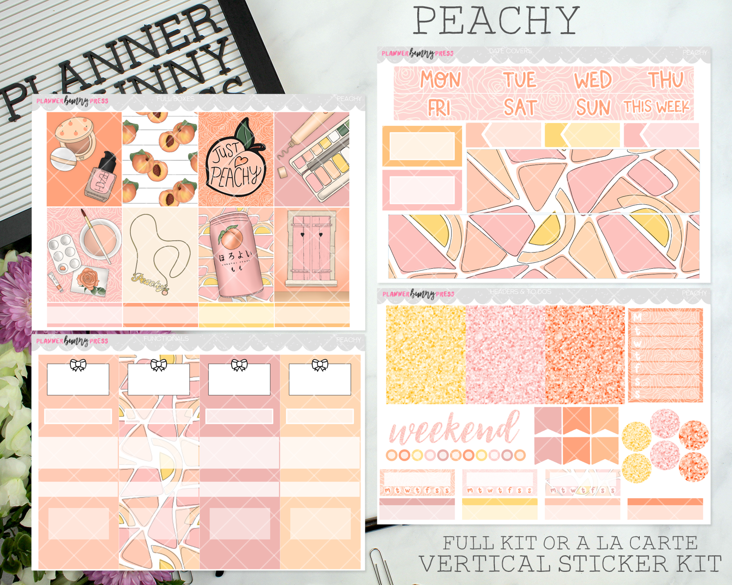 Peachy | Vertical Sticker Kit