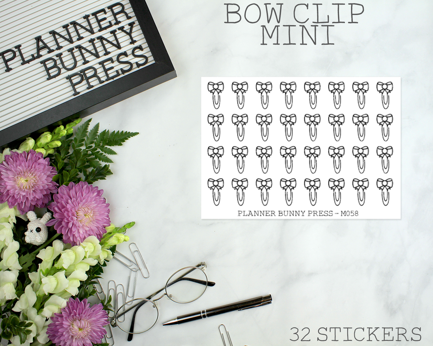 Bow Paperclip Minis | Doodle Icon