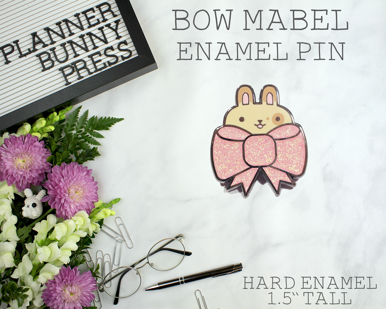 Bow Mabel Enamel Pin