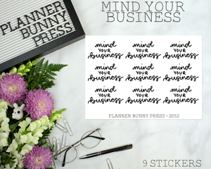 Mind Your Business | Script Mini