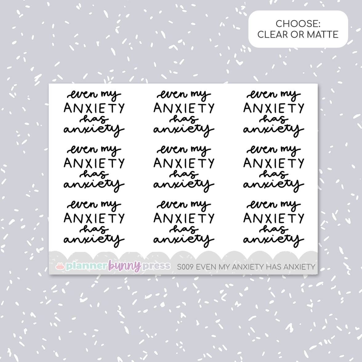 Even my anxiety has anxiety | Script Mini