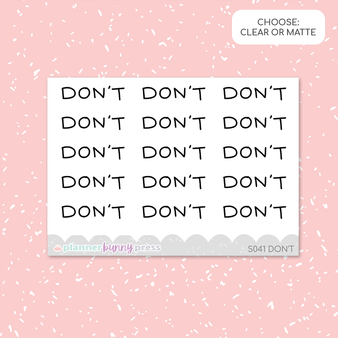 Don't | Script Mini