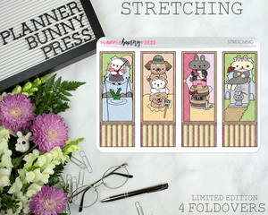 Stretching Foldover | Character Sticker