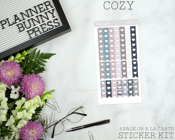 Cozy | Vertical Sticker Kit
