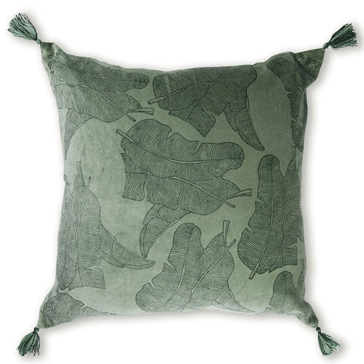 Jungle Print Pistachio Cushion 50cm